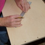 Final dowel mark-up