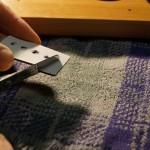 Cutting foam grommets to sit behind tweeters