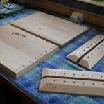 Hardwood parts planed