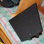 Black felt on baffle support base