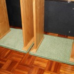 Custom mats from carpet offcuts